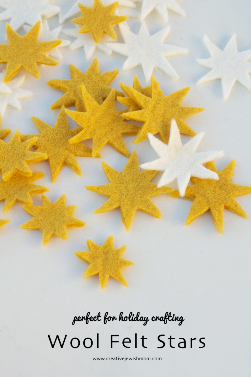 Felt Stars White And yellow for Chanukah