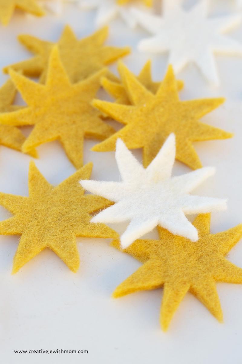Felt Stars Close Up
