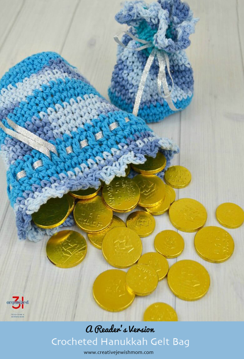Hanukkah Crocheted Gelt bag reader's version