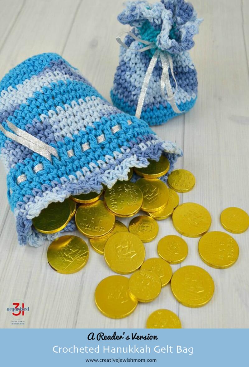 Hanukkah Crocheted Gelt bag reader's version