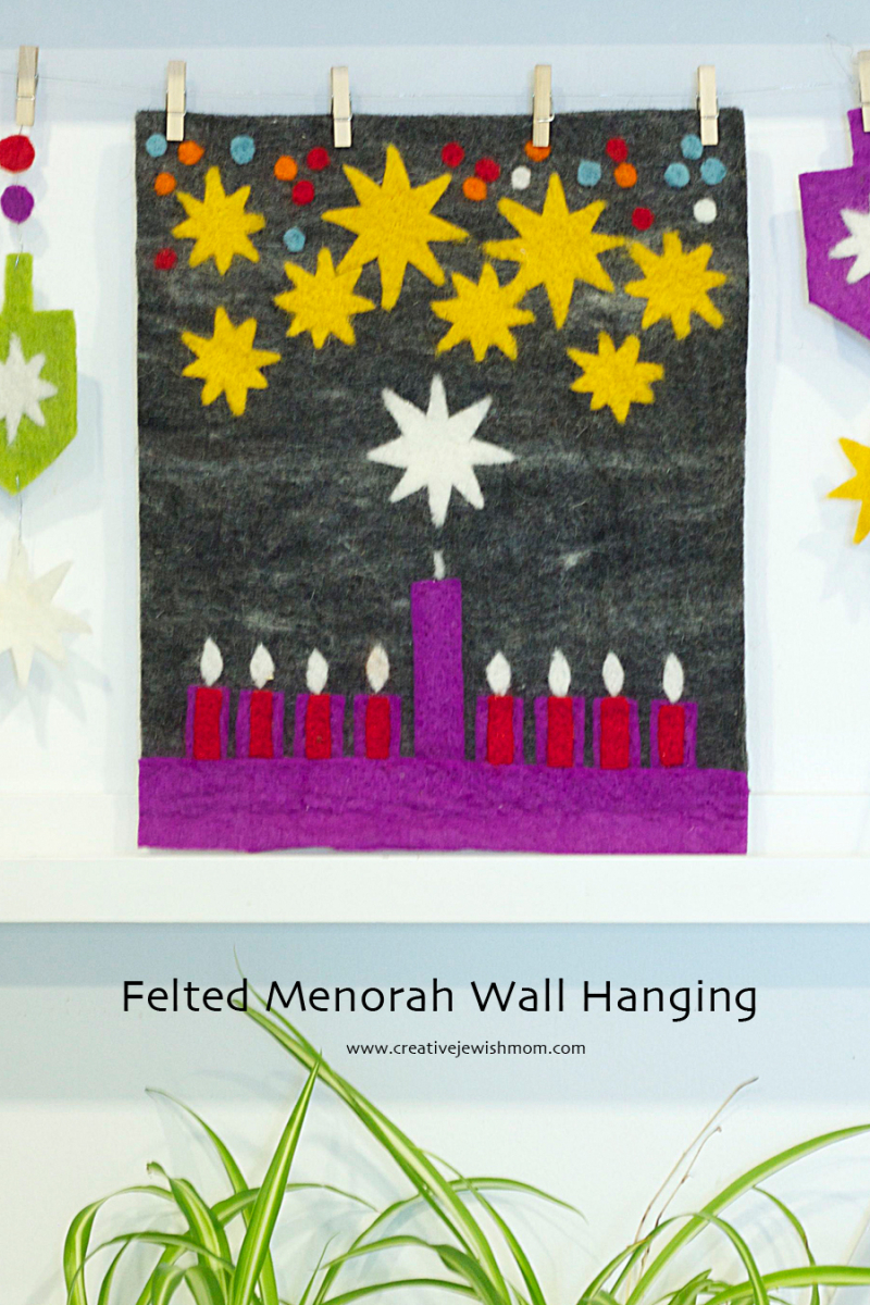 Hanukkah Felt Wallhanging With Menorah