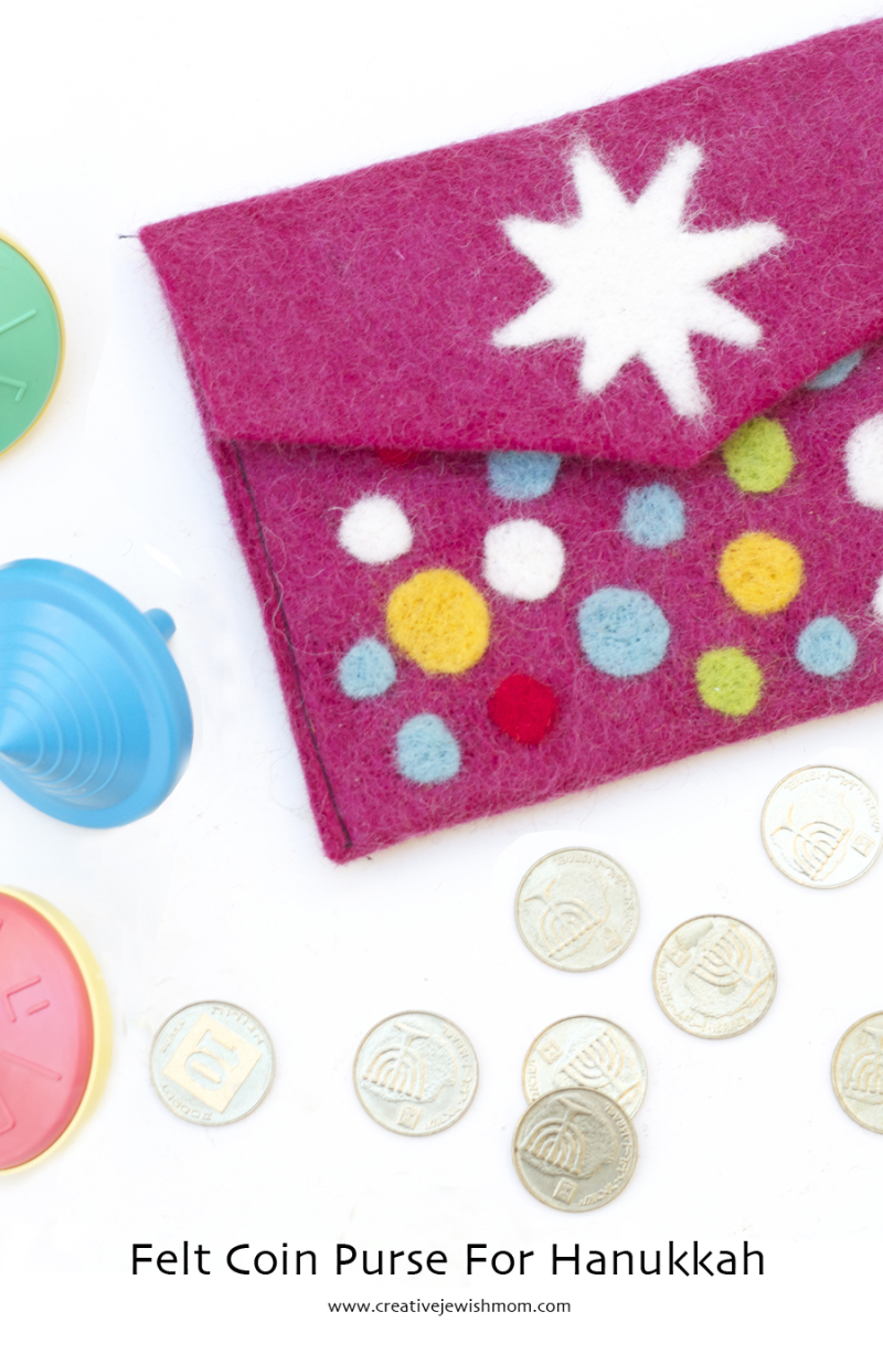 Hanukkah Felt Coin Purse