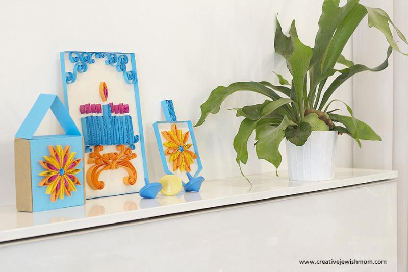 Quilling Hanukkah Decorations Dreidel