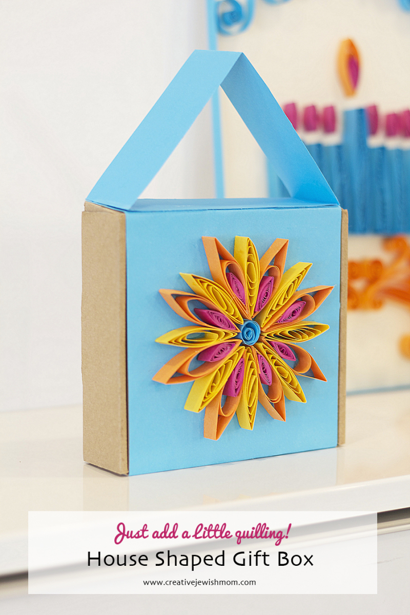 Quilled Hanukkah Craft House Gift Box
