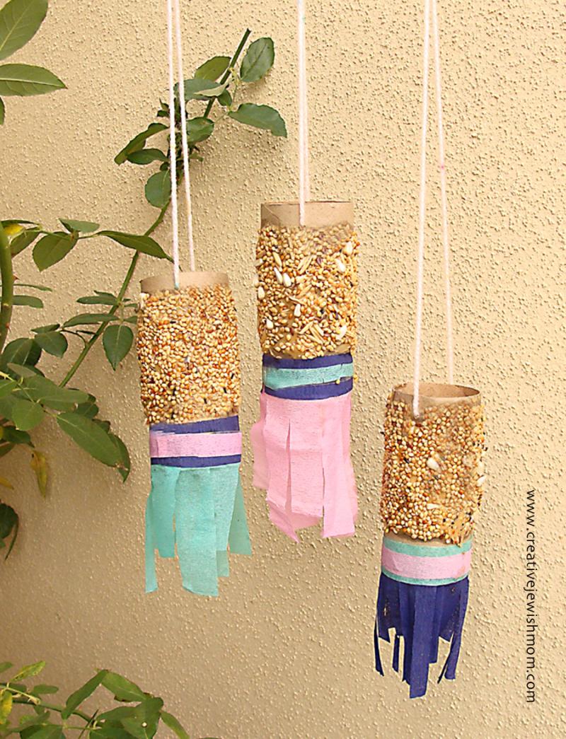 Toilet Paper Tube Wind Sock Bird Feeders