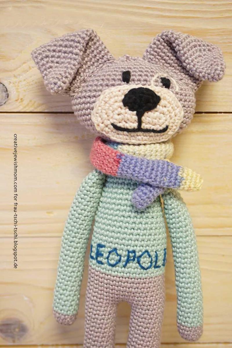 Crocheted stuffed dog toy free pattern