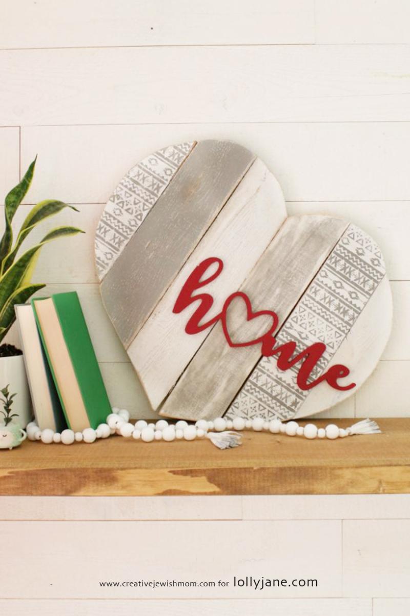 DIY palette heart