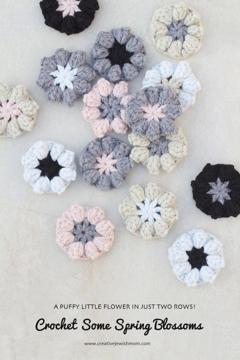 Crocheted Puffy little flowers