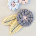 Crocheed Popcorn Flower Applique