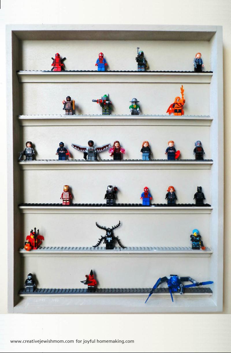 DIY lego display shelves