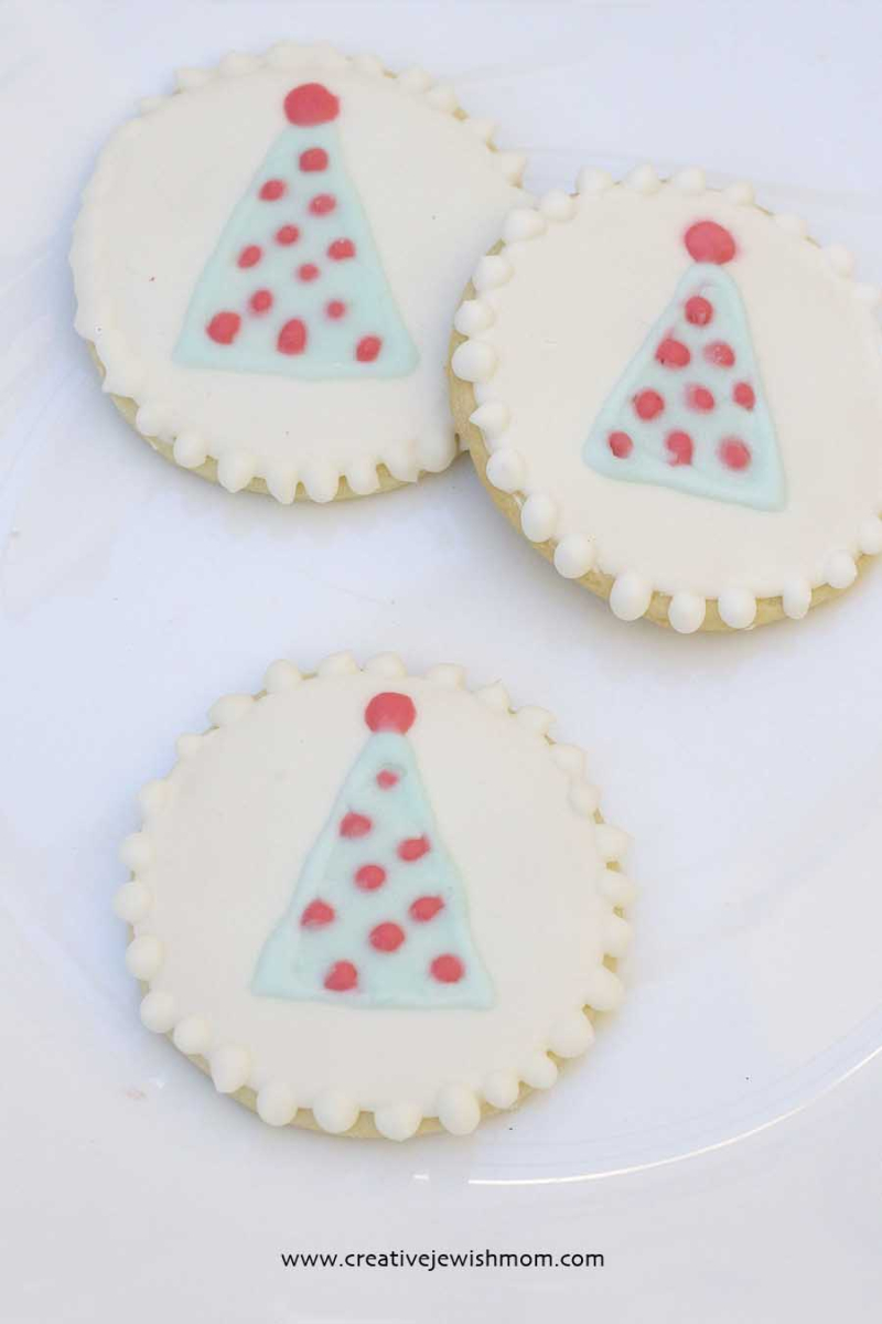 Royal Icing Clown Cookies for Purim
