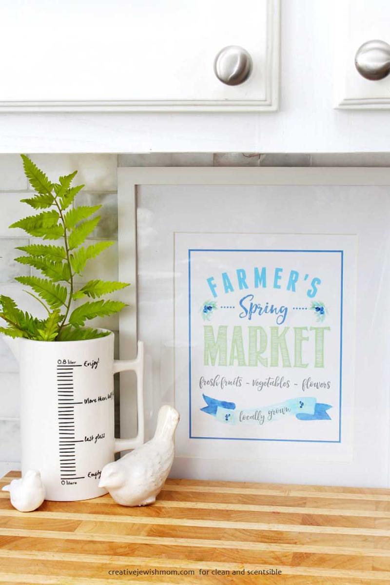 Farmer's market printable for spring