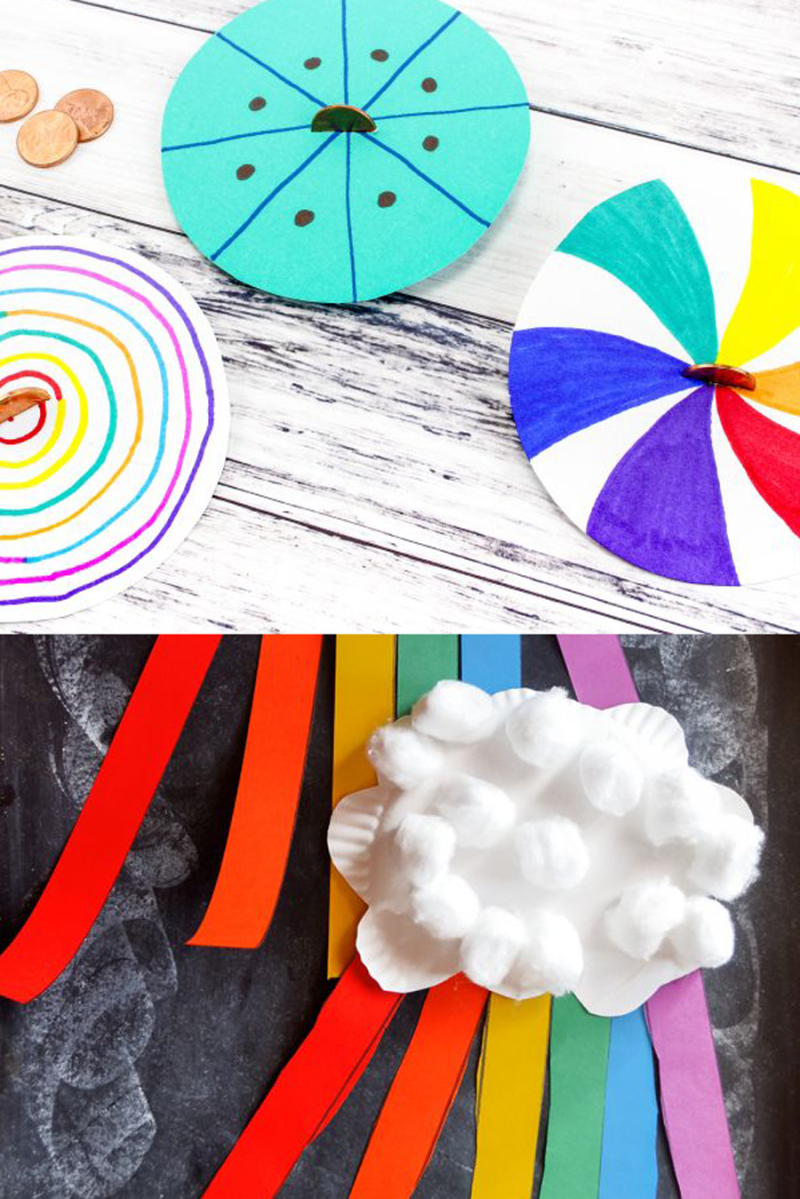 Rainbow striped kids crafts