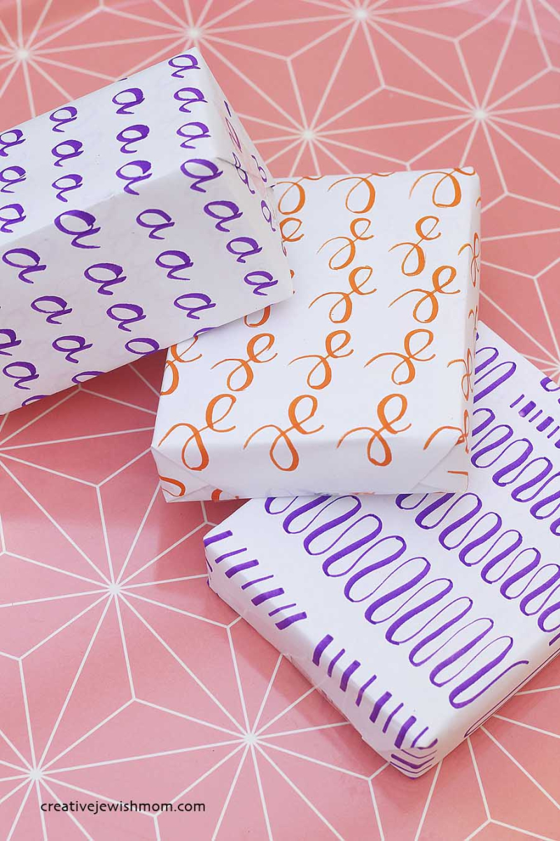 Brush-lettering-practice-sheets-wrapping-paper