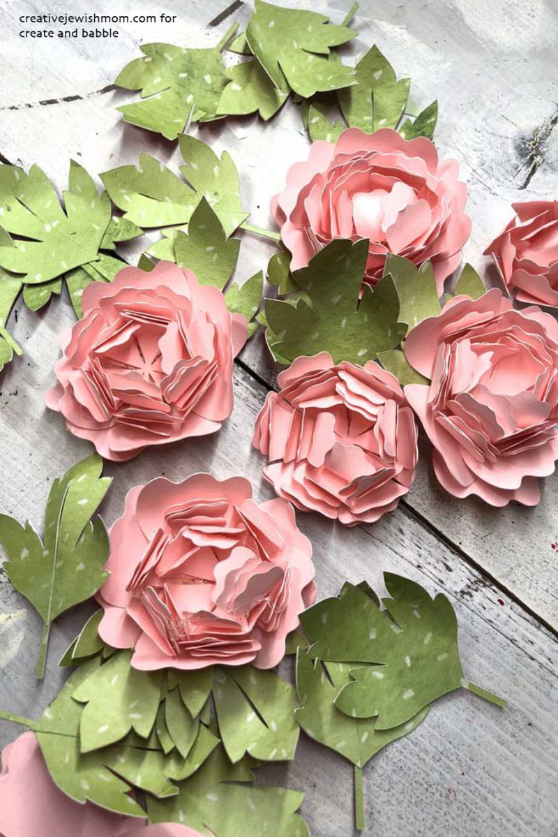 Tips for making paper peonies on a electronic cutter