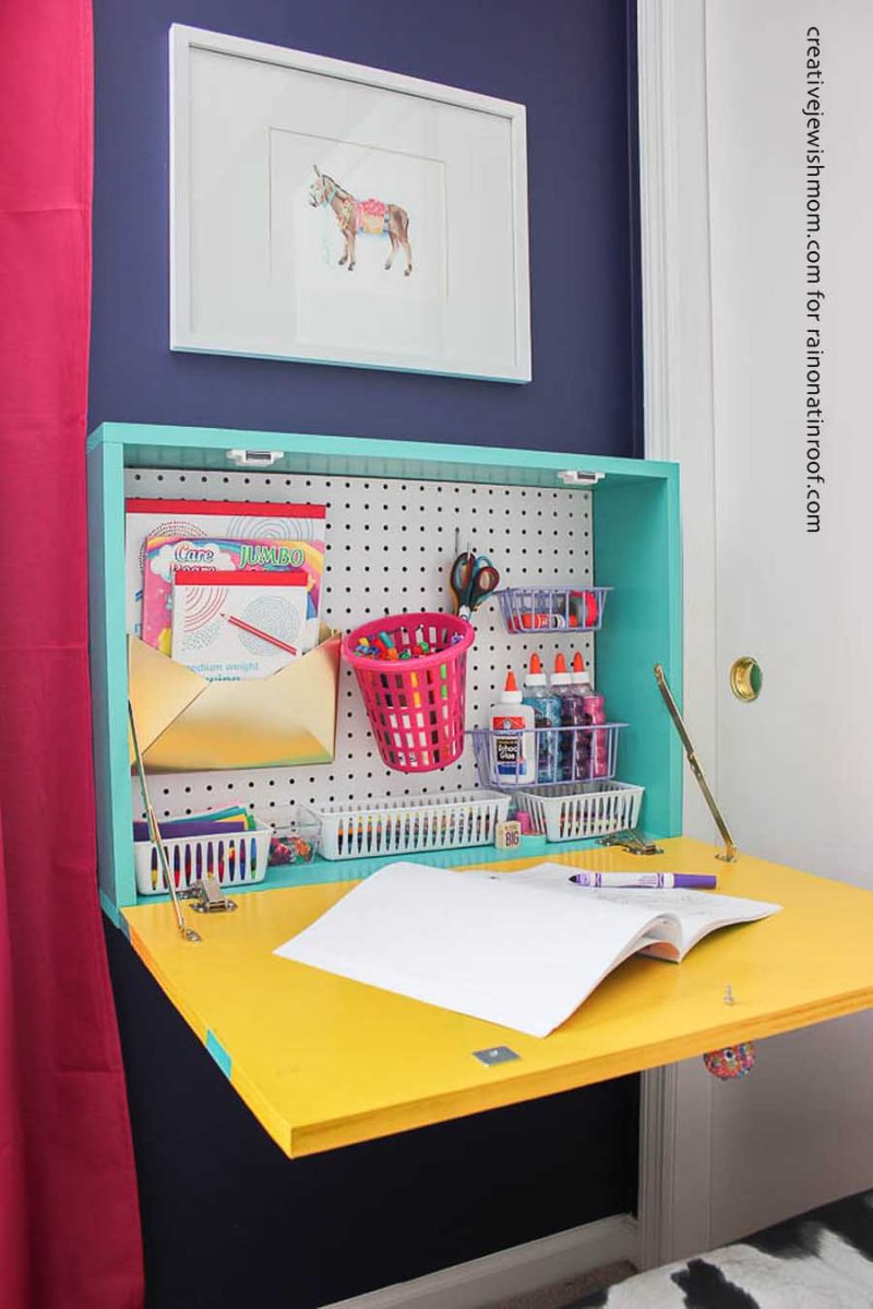 Diy-wall-mounted-drop-down-desk