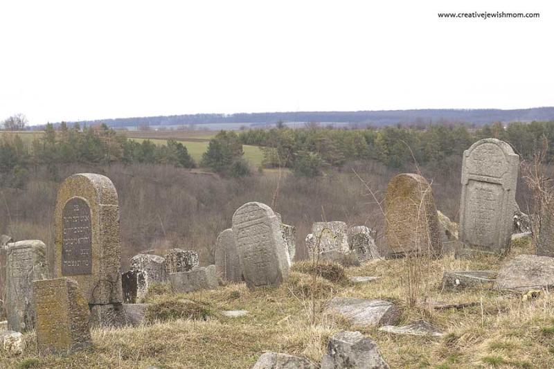 Old Jewish Cemetary Bratslav Overlooking Bug River