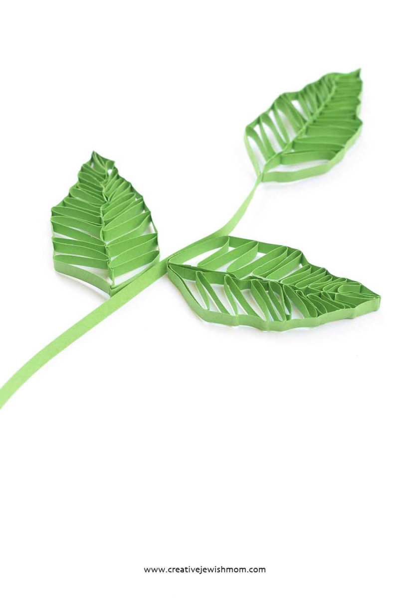 Quilled Leaves Large