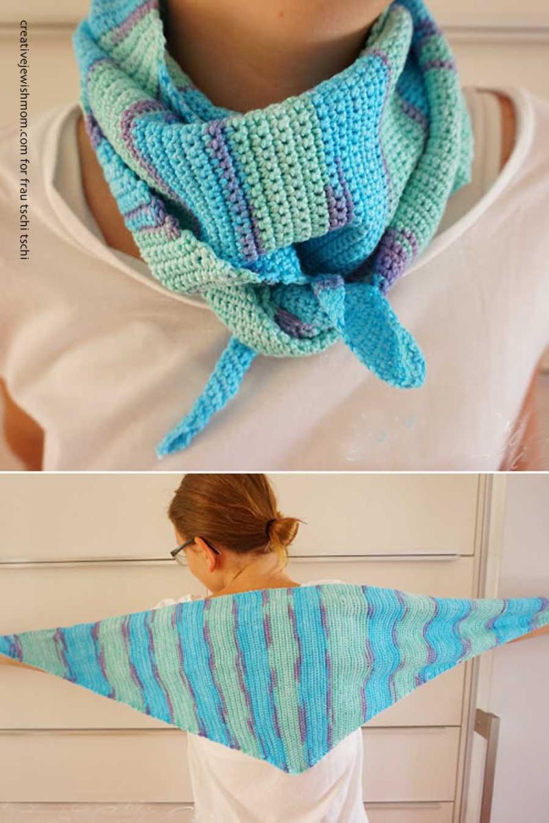 Crocheted-triangular-scarf