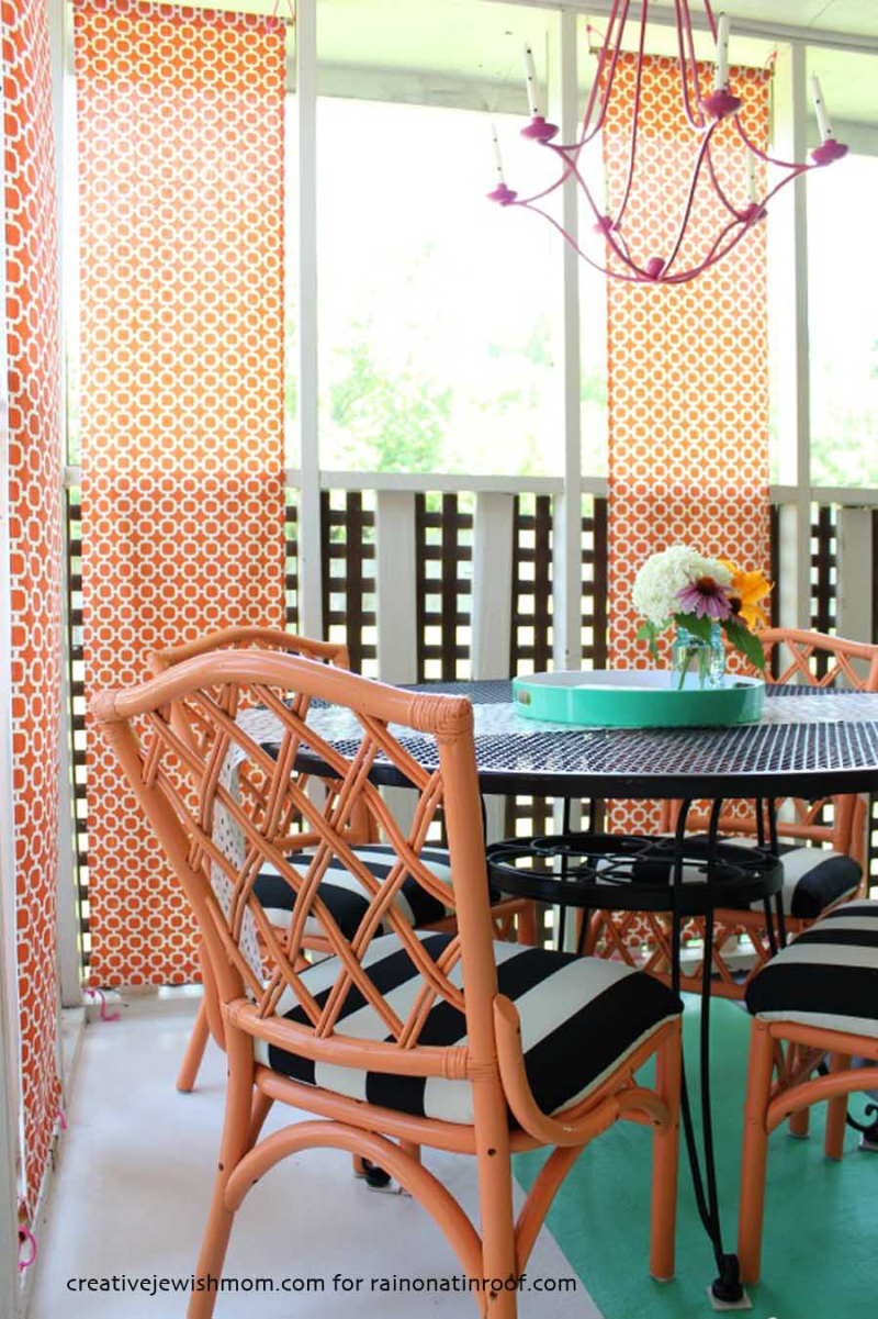 Screened-in-porch-orange-and-black-design