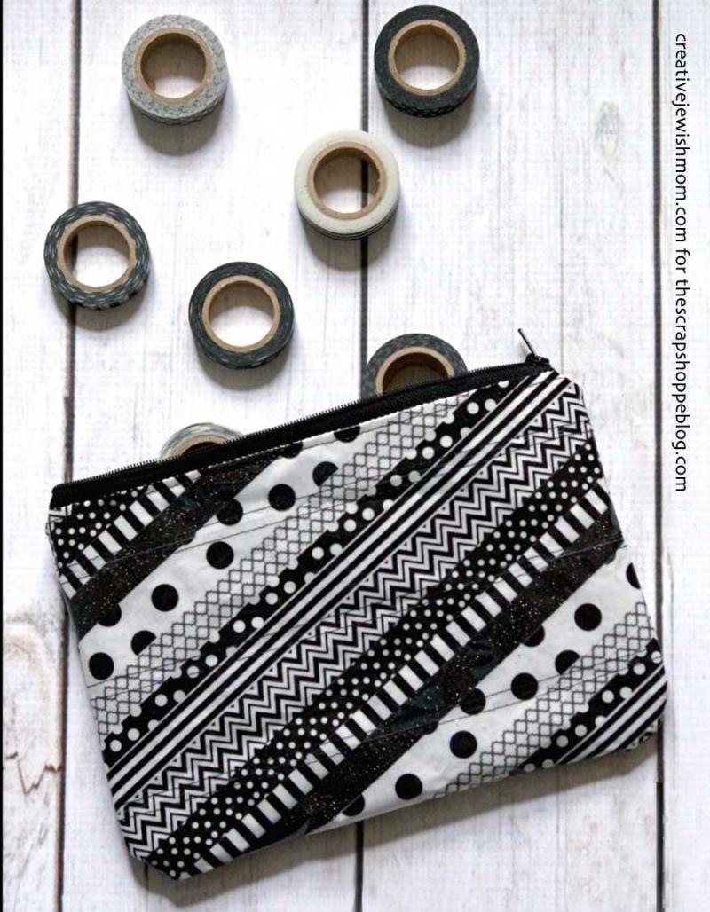 Washi-tape-zipper-pouch
