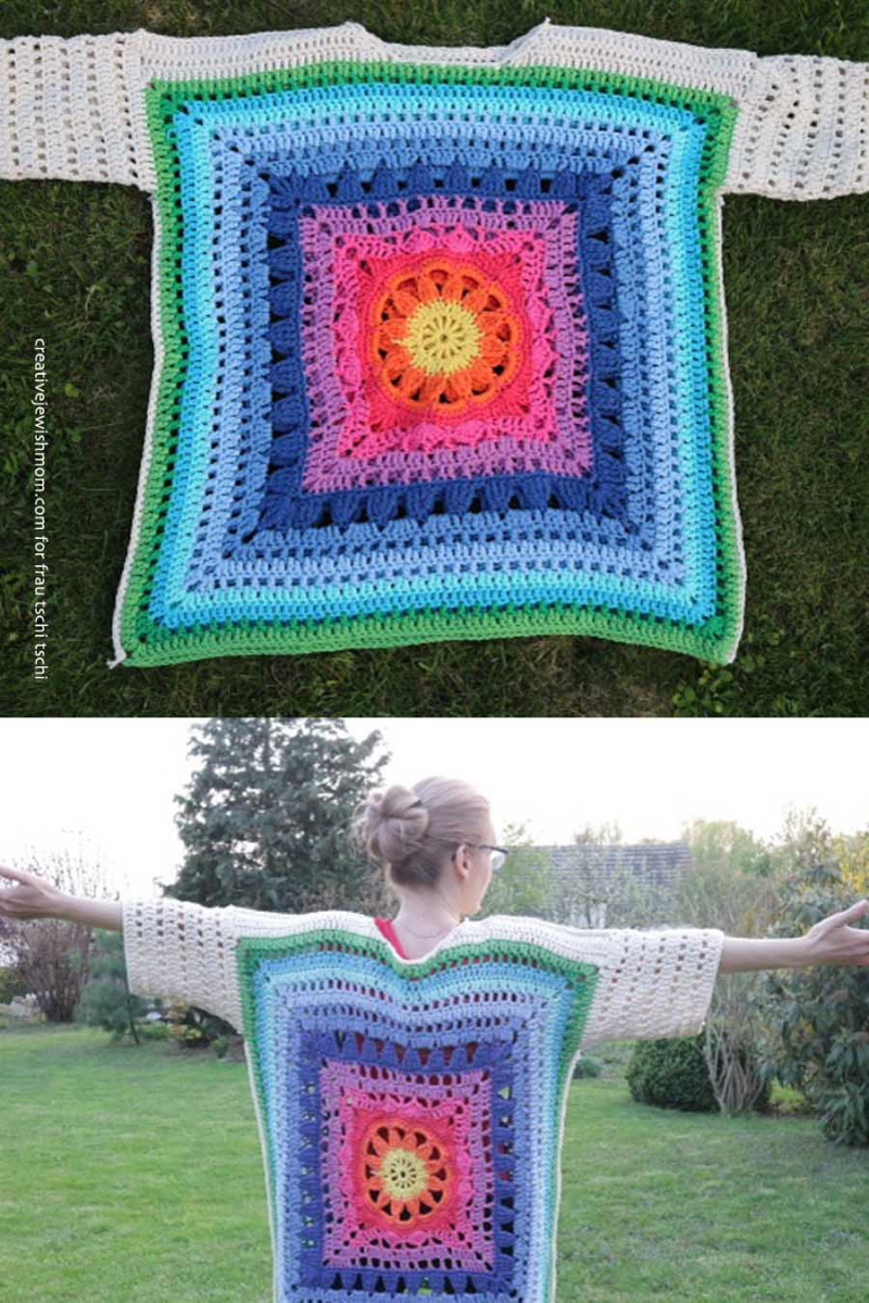 Giant-granny-poncho-pullover-sweater
