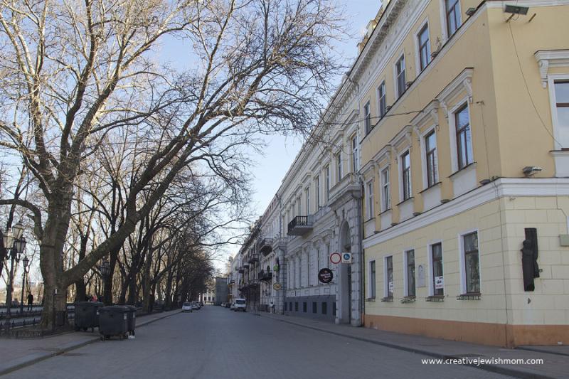 Odessa Ukraine Architecture Park Over Port