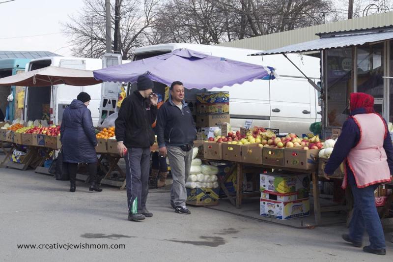 Ukraine Uman market late winter