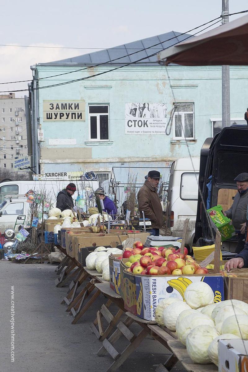 Uman Ukraine Market with Cabbage