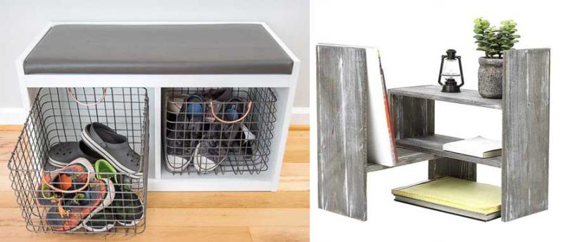 DIY-entryway-bench desk-top-organizer