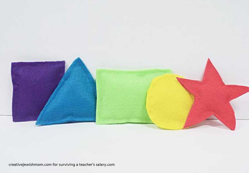 DIY felt shapes for kids