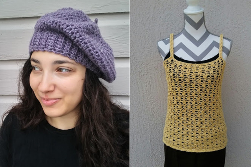 Crocheted-beret-pattern