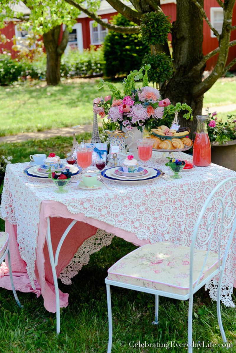 French inspired outdoor brunch