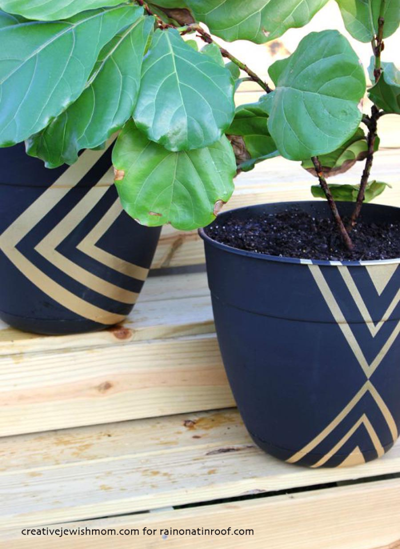 Diy-modern-painted-planters