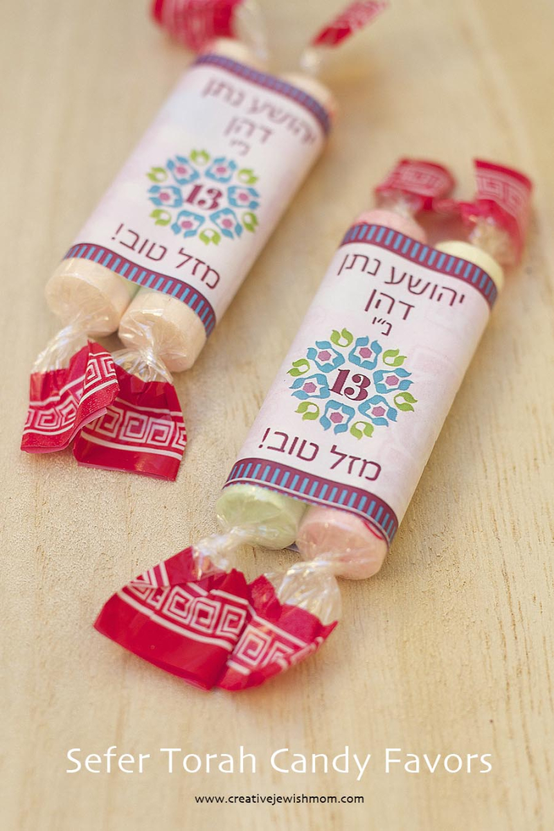Sefer Torah Bar Mitzvah Candy