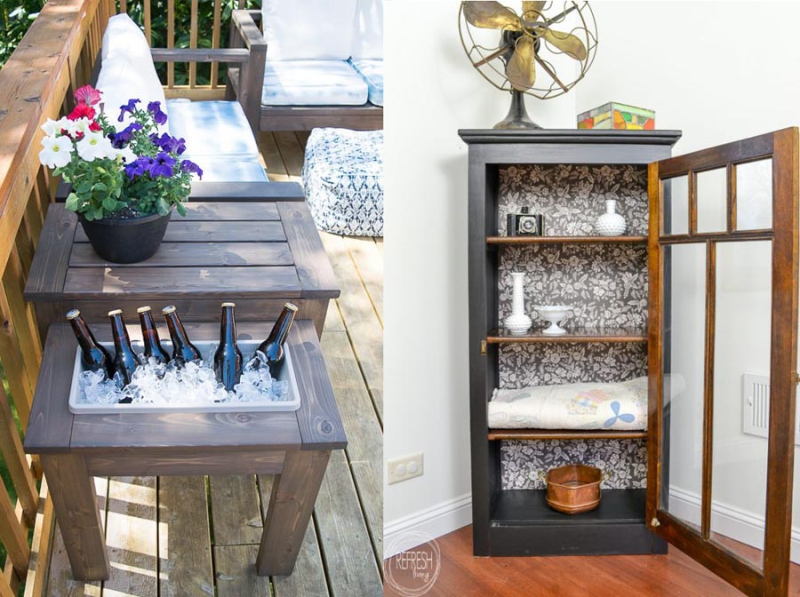 DIY-end-table-with-ice-bucket