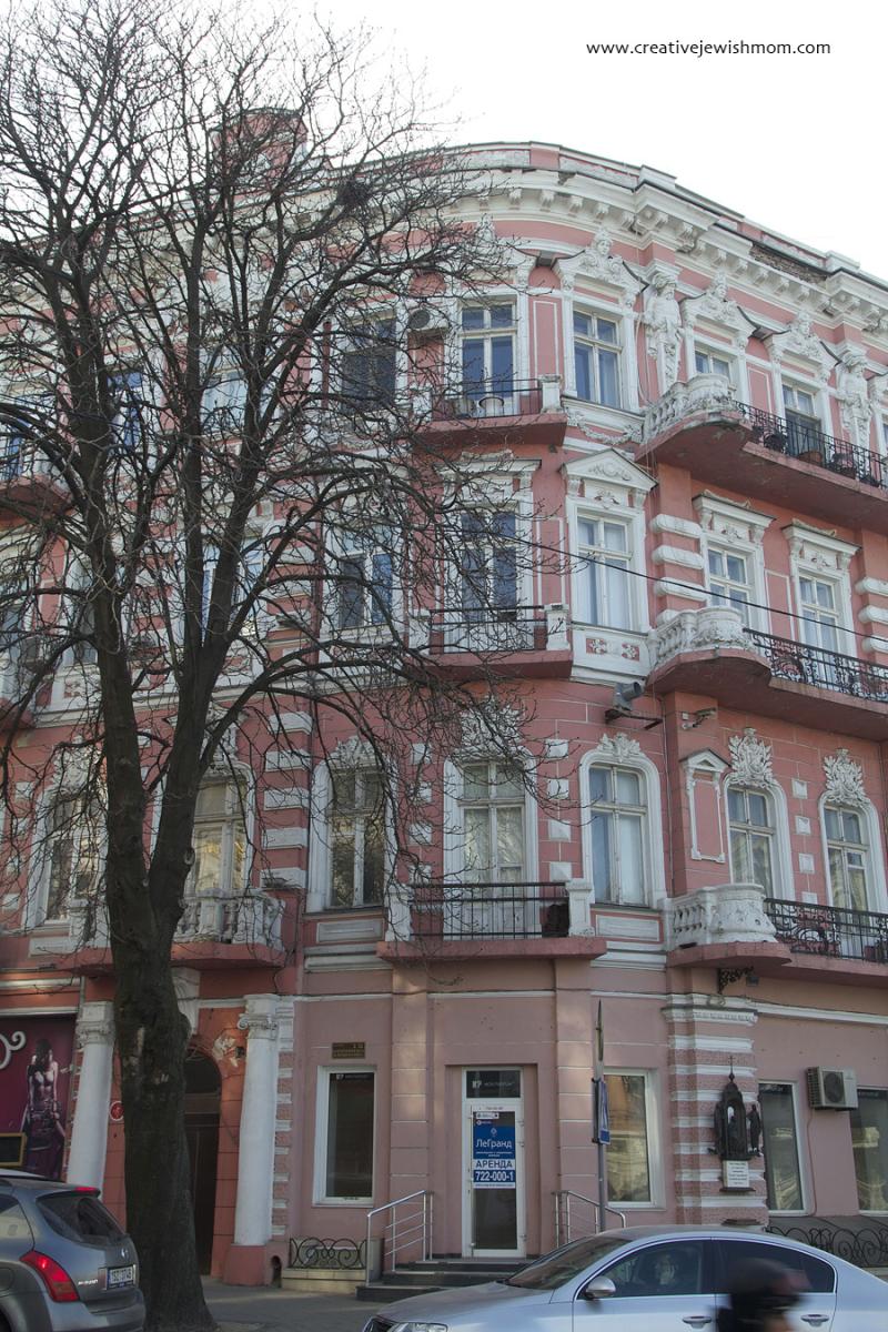 Odessa Ukraine  Beaux Arts Pink Stucco