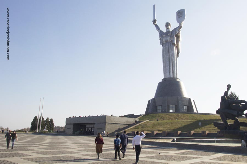 Ukraine Motherland Monument and plaza Kyiv