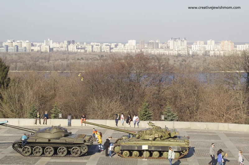 WW 2 Museum Kyiv Tanks Outside