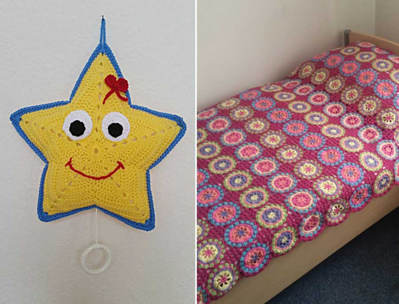 Crocheted-baby-star-music-toy