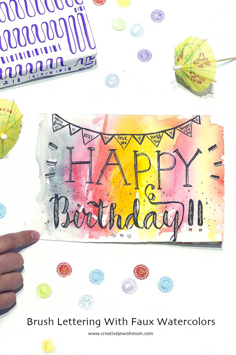 Brush Lettering With Watercolor background copy