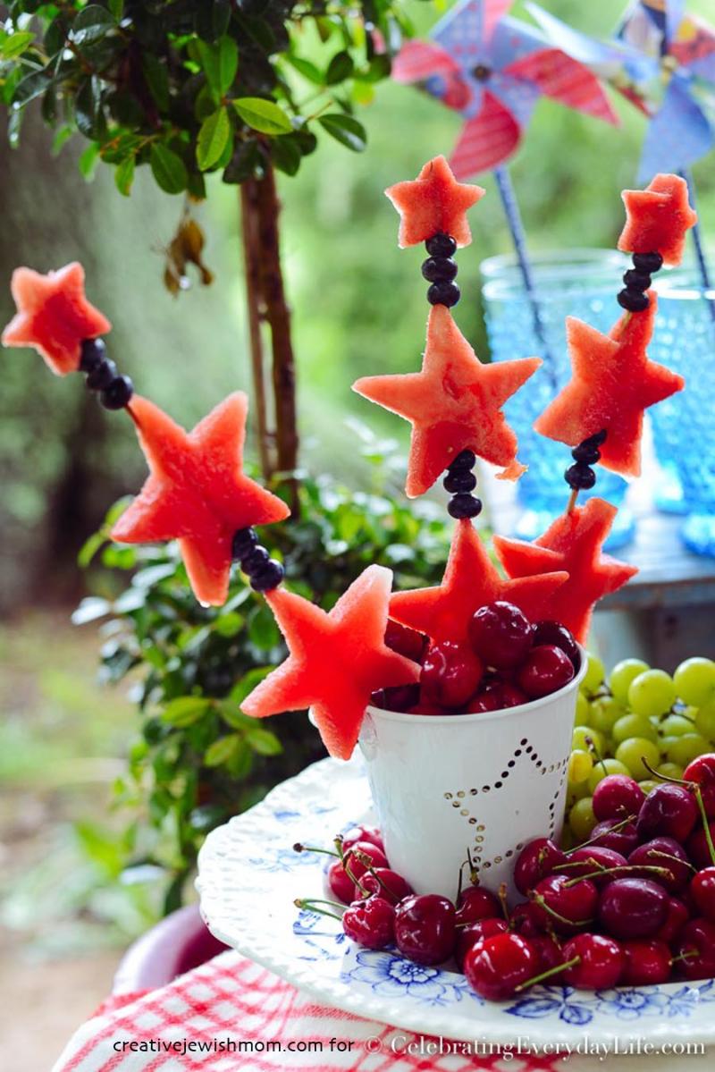 Watermelon-star-skewers