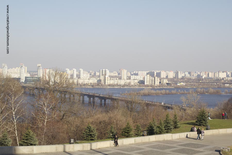 Kyiv Plaza With View of Dnieper River
