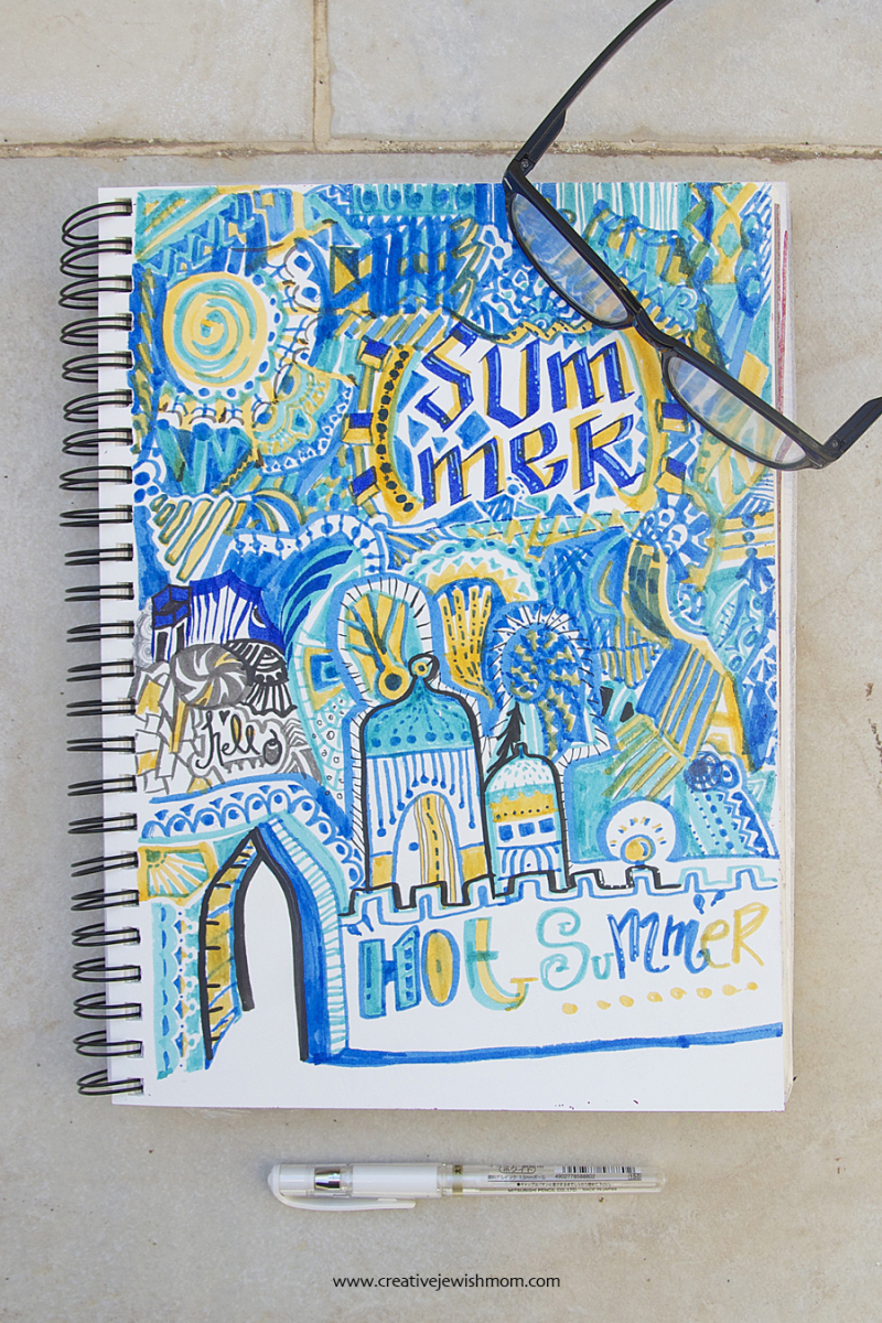 Travel Journal Doodles with arches