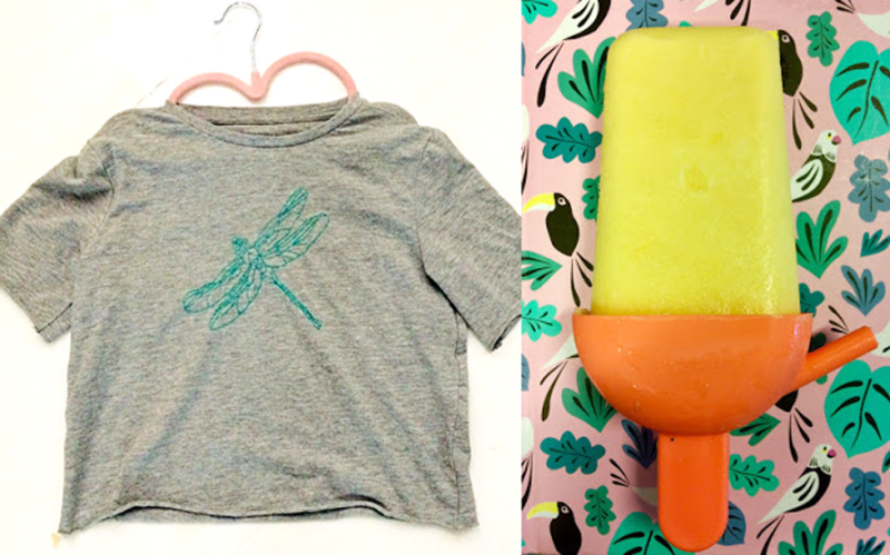 Embroidered dragonfly t-shirt  popsicle