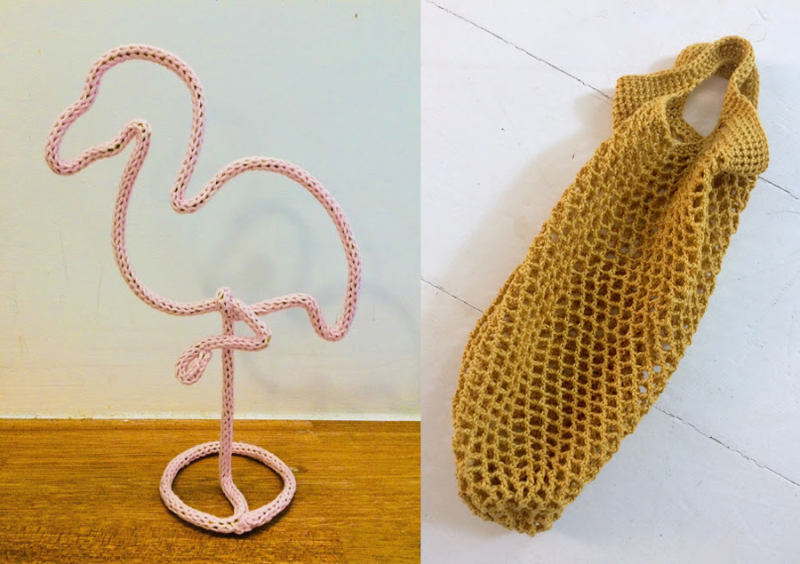 Spool-knitting-flamingo crocheted-mesh-market-bag