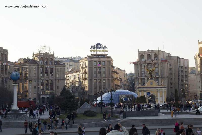 Ukraine Kiev Independence Square Buildings