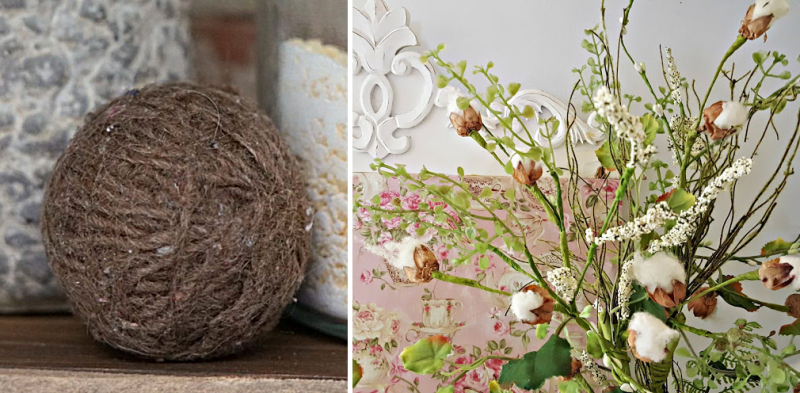 Cotton ball bouquet DIY dryer balls