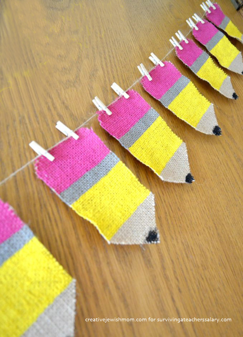 DIY-Back-to-School-Pencil-Banner-from-burlap