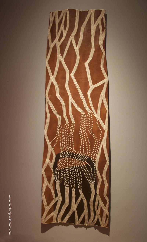 Aboriginal Women's Art red and white pattern
